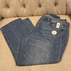 Old Navy Mid Rise Light Wash Flare Ankle Jeans